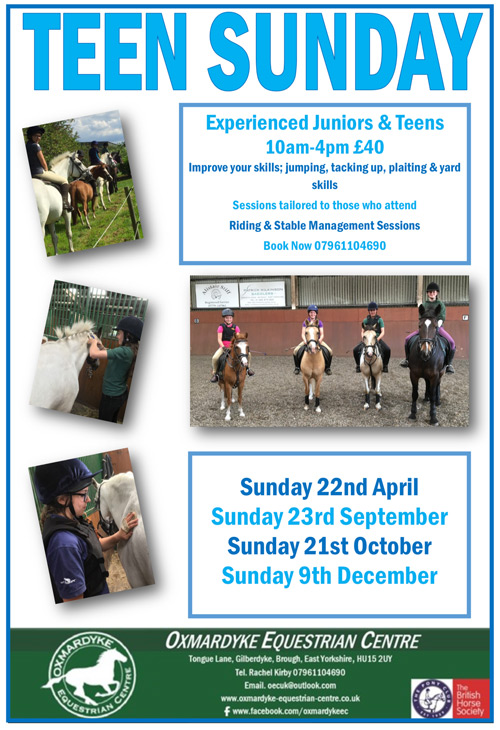 Pony Days at Oxmardyke Equestrian Centre